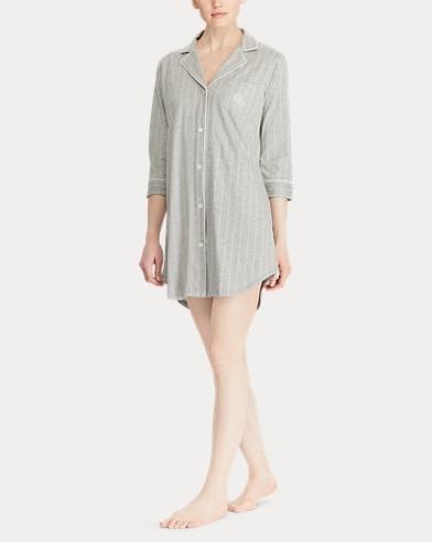 Striped Jersey Sleep Shirt
