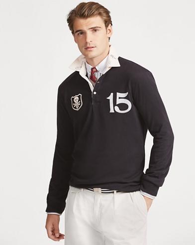 Camicia rugby in cotone Classic-Fit