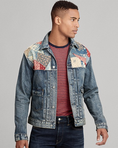 Repaired Denim Trucker Jacket