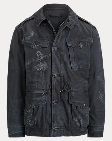 Utility-Jacke aus Baumwolldruck