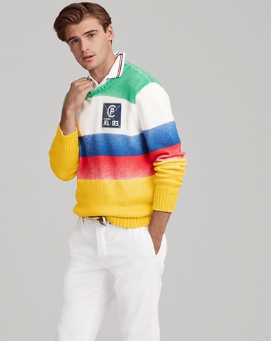 CP-93 Striped Cotton Sweater