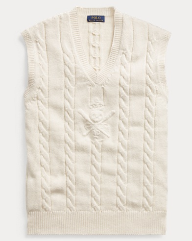 Cable Cotton-Cashmere Vest