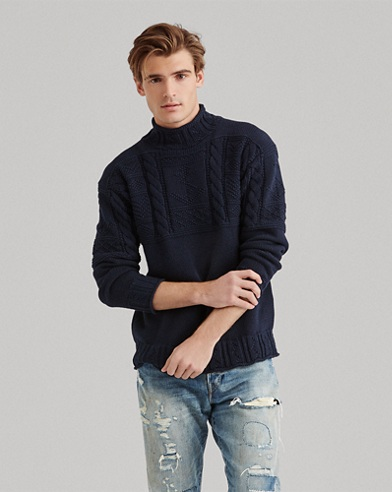 bdbab02b402a0 Aran-Knit Cotton Sweater. color (2)  Navy · White. Polo Ralph Lauren