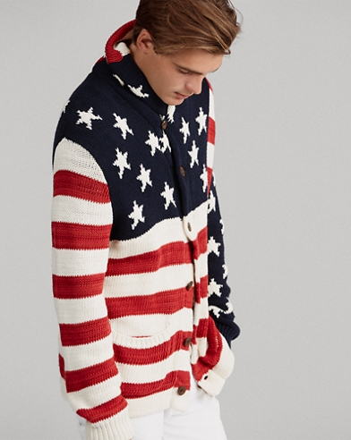 Flag Cotton-Blend Cardigan
