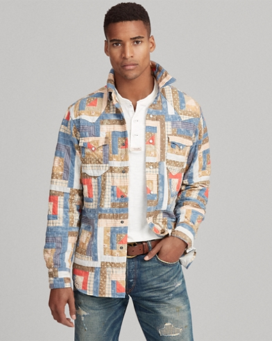 Classic-Fit Patchwork-Hemd
