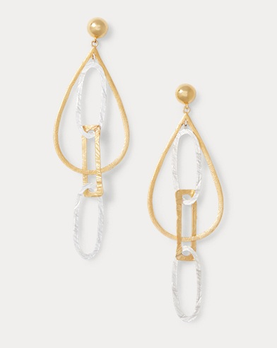 Gold-Plated-Brass Earrings
