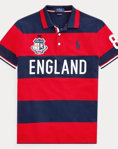 Custom Slim Fit England Polo