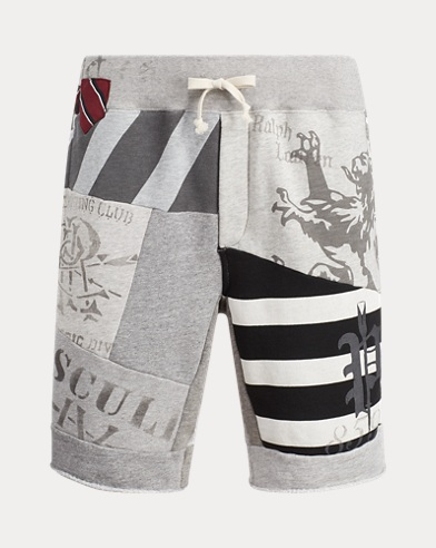 Patchwork Fleece Short