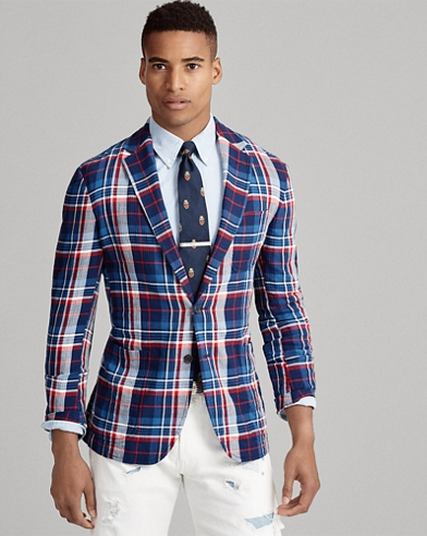 Plaid Herringbone Sport Coat