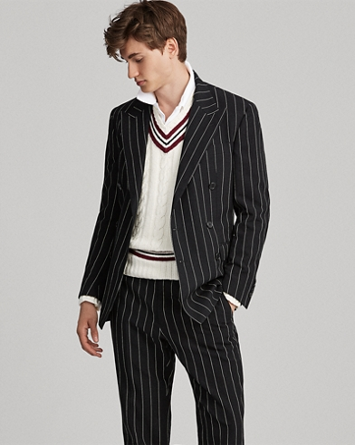 Polo Striped Suit Jacket