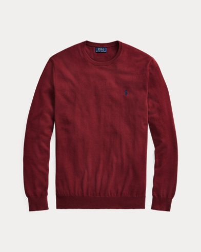 Slim-Fit Baumwollpullover