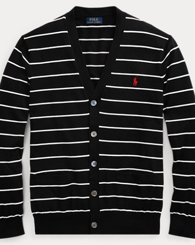 Striped Cotton Cardigan