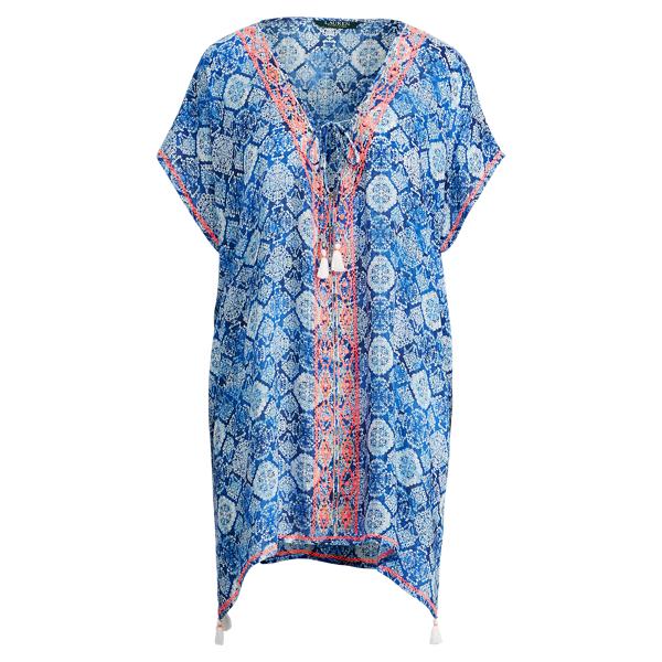 Ralph Lauren Embroidered Cotton Tunic Blue L/Xl