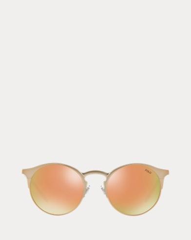 Verspiegelte Panto-Sonnenbrille