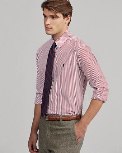 Camisa de popelín de algodón slim fit
