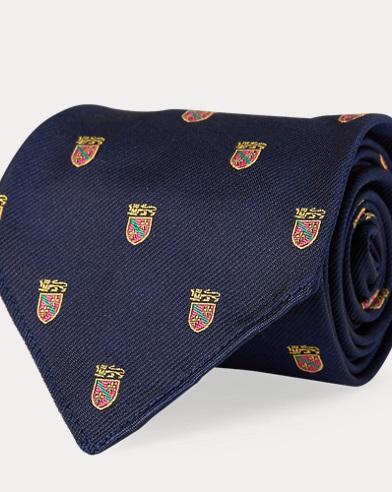 Cravate club en soie vintage