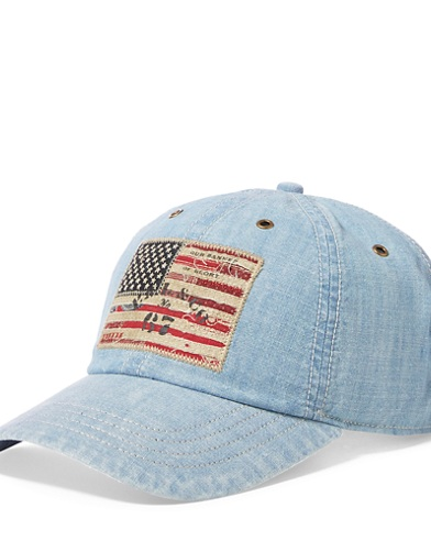 Flag Patch Chino Baseball Cap