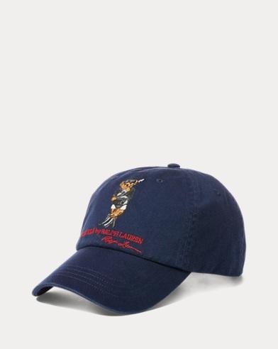 Cappellino in chino con orsetto sub