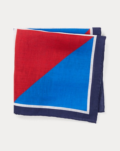 Nautical Linen Pocket Square