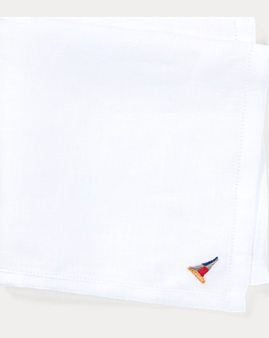 Flag-Embroidered Pocket Square