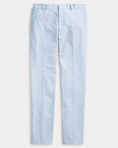 Anzughose aus Oxford im Polo-Stil