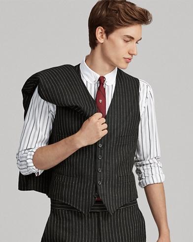 Striped Linen Vest