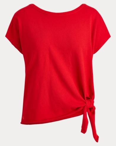 Tie-Hem Cotton Top