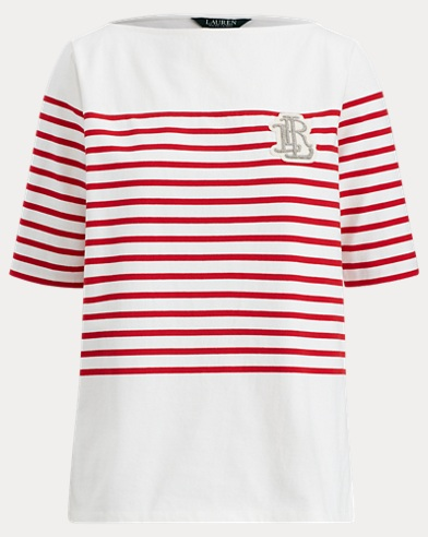 Cotton Boatneck T-Shirt