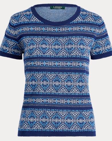 Geometric-Print Sweater