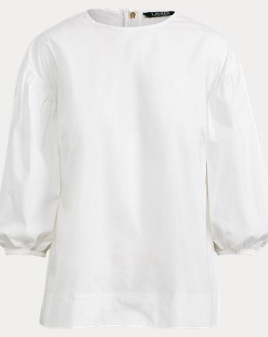 Cotton Bishop-Sleeve Top