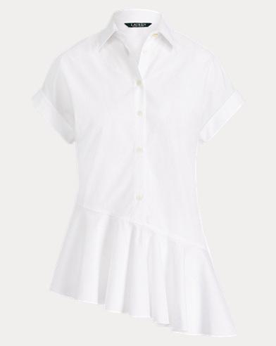 Asymmetrisches Baumwollhemd