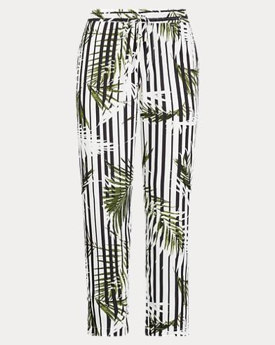 Print Twill Skinny Pant
