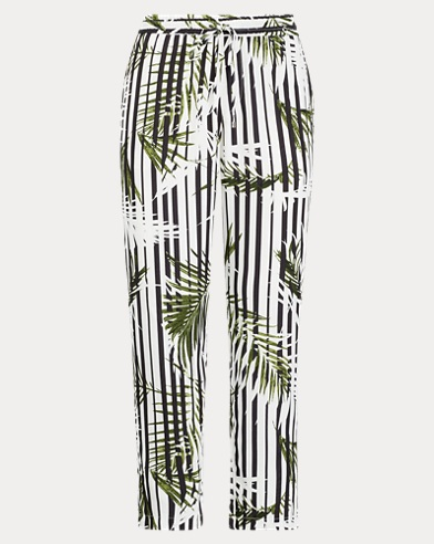 Pantaloni skinnyin twill stampati