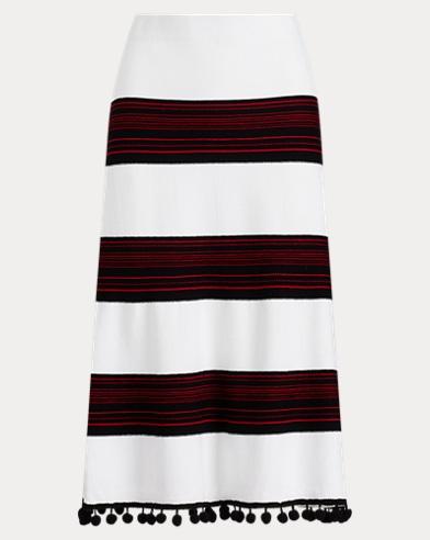 Pom-Pom-Trim Skirt
