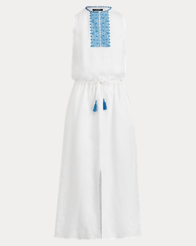 Embroidered Linen Maxidress