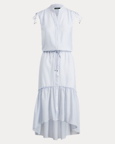 Button-Down Drawstring Dress