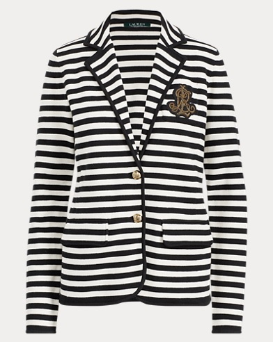 Striped Bullion Knit Blazer