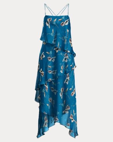 Watercolor Georgette Dress