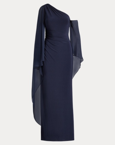 Georgette Cape Gown