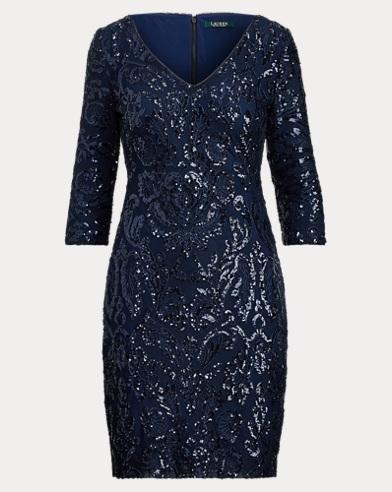 Metallic Patterned Dress