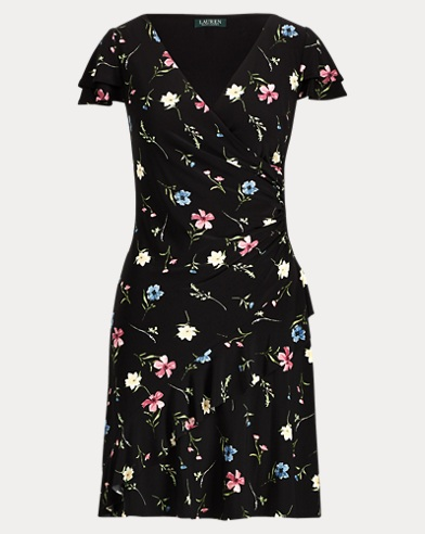 Floral-Print Jersey Dress. Lauren Petite