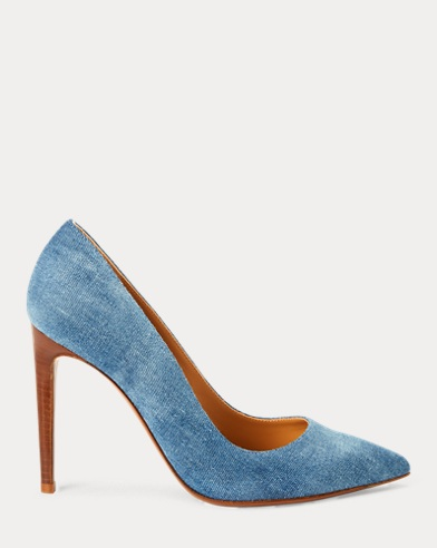 Celia Bleached Denim Pump