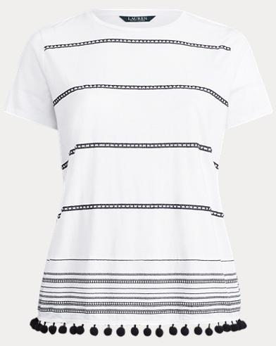 Pom-Pom-Trim Shirt