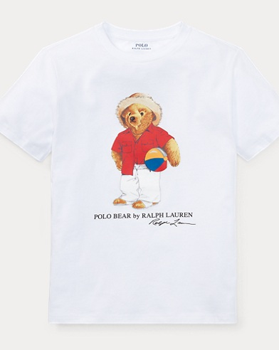 Beach Ball Bear Cotton T-Shirt