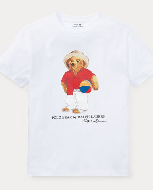Shirt Beach Bear Ball T Cotton 7gv6byYf