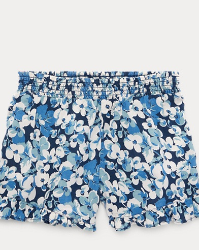 Floral Ruffled Challis Short