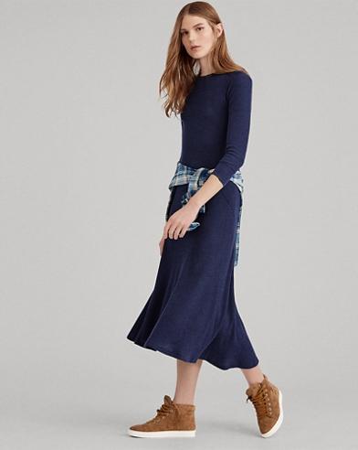 Maxi robe en tricot gaufré