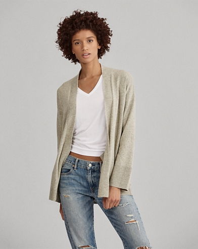 Wool Open-Front Sweater