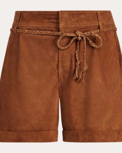 Belted Suede Short. Polo Ralph Lauren