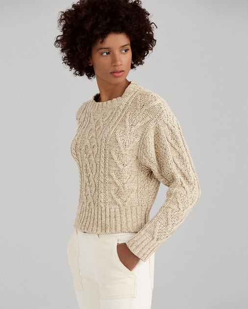 76b4ff278b Cable Cotton-Blend Sweater